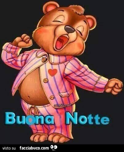 Orsetto Buona Notte Condiviso Da Nutella Facciabuco Com