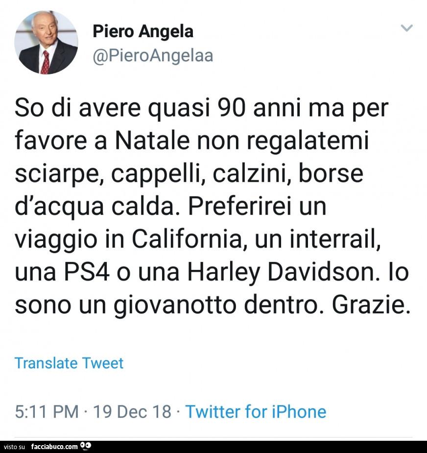 prezzo onesto online qui prezzo all'ingrosso Piero Angela: so di avere quasi 90 anni ma per favore a ...